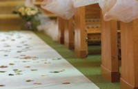59' WHITE AISLE RUNNER