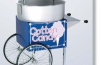 COTTON CANDY MACHINE WITH OLD FASHOIN CART